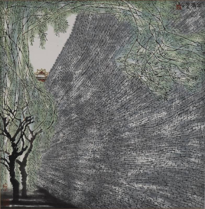 李小可 宮牆 91.5x90cm 2003