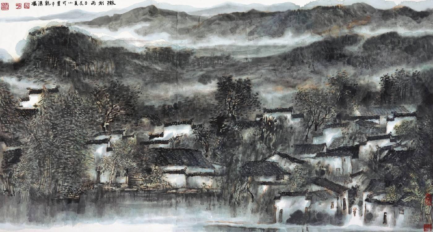 李小可 徽州雨 179.5x96.5cm 2012