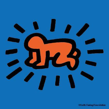 〈閃耀嬰兒〉Icons(Radiant baby)。圖/Keith Haring Foundation提供。
