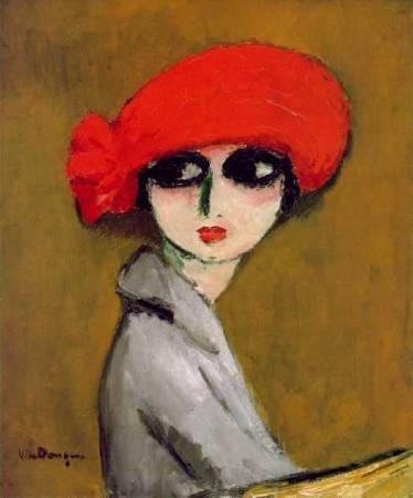 凡東榮《罌粟花》(The Corn Poppy),1919。圖/取自Wikiart。