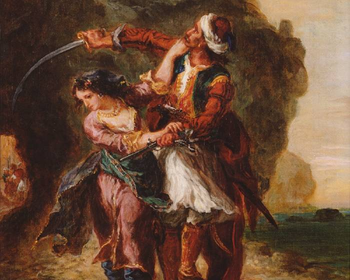 印象派眼中的大師  浪漫主義畫家德拉克拉瓦