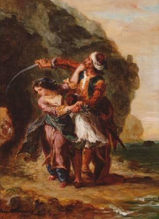 德拉克拉瓦《阿拜多斯的新娘》。圖/取自Wikipedia。