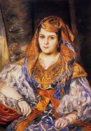 雷諾瓦《Madame Clémentine Valensi Stora》。圖/取自Wikipedia。