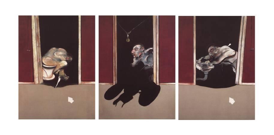 培根《1973年五月至六月的三聯畫》。