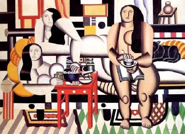 萊熱《三個女人》(The Three Women),1921。圖/取自Wikiart。