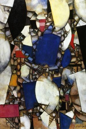 萊熱《藍色的女人》(La Femme en Bleu),1912。圖/取自Wikiart。