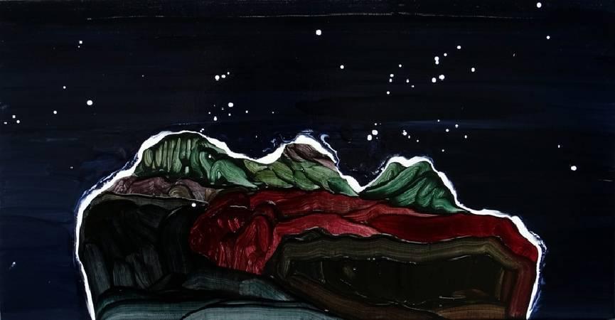 黃品玲_長夜 A long night_66 X 35 cm_oil on canvas_2015