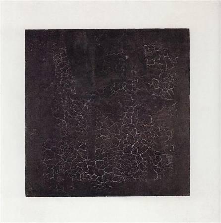 馬列維奇《黑色方塊》(Black Square),1915。圖/取自Wiki Art。