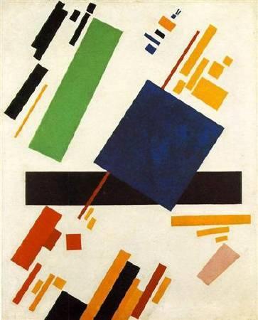 馬列維奇《至上主義構圖》(Suprematic Painting),1916。圖/取自Wiki Art。