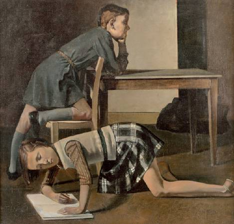 Balthus,《Children》,1937。圖/取自Wikiart。