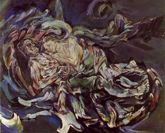 柯克西卡《The Bride of the Wind》,1914。圖/取自Wikipedia。