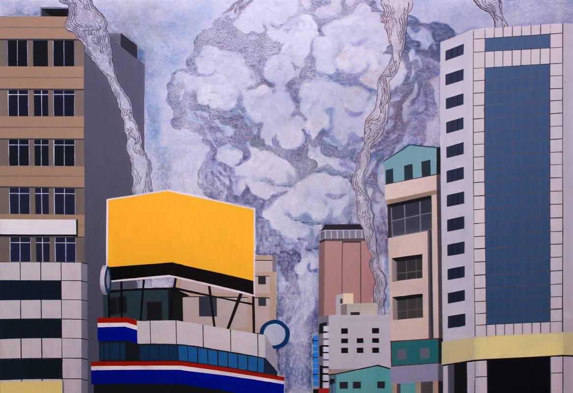黃法誠 這城市過於正面思考-4 2015 壓克力顏料.墨 116.5x80cm 阿波羅畫廊(展間802)