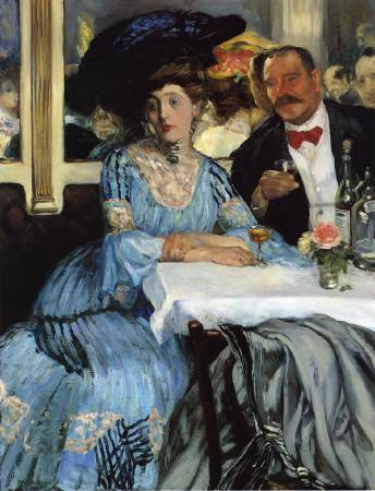 William Glackens,《Chez Mouquin》,1905。圖/取自Wikiart。