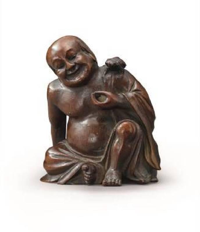 十八世紀〈竹根雕劉海戲金蟾〉,高16.5cm,NT$135-150萬