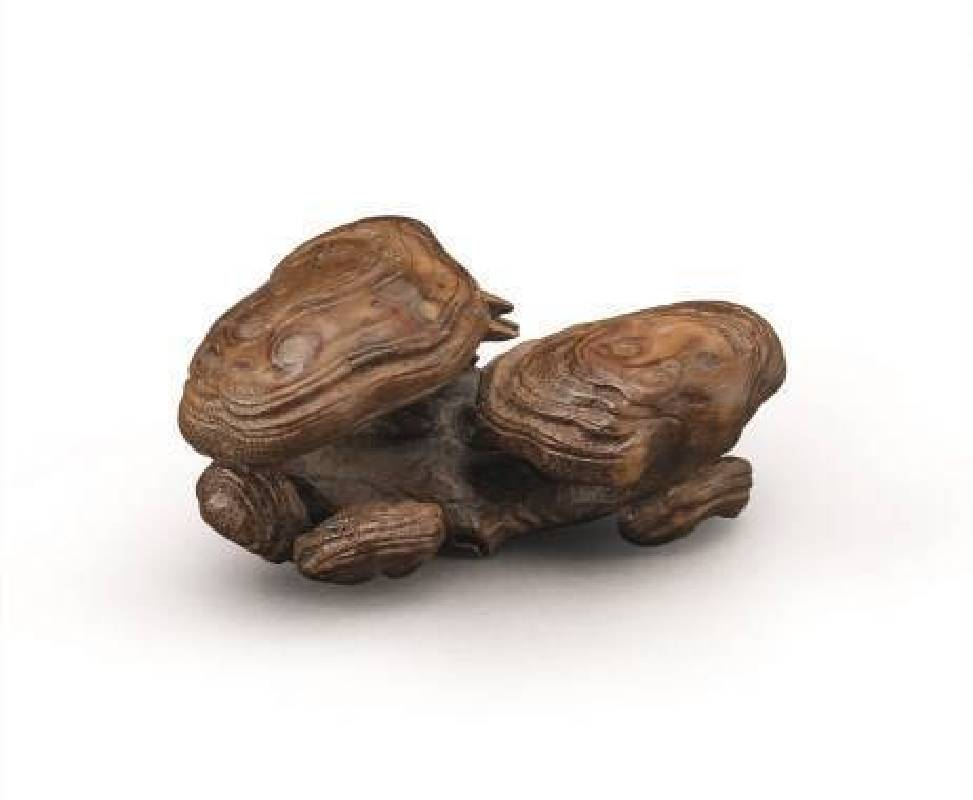 十八世紀〈竹根雕靈芝墨台〉,寬8.3cm,NT$50-80萬