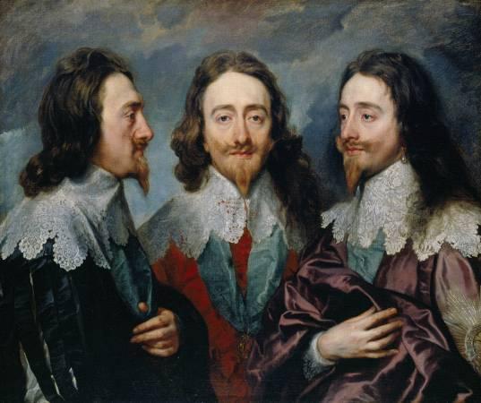 范戴克《Charles I in Three Positions》。圖/取自Wikipedia。
