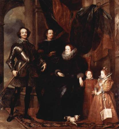 范戴克《Genoan hauteur from the Lomellini family》。圖/取自Wikipedia。