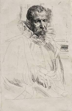 范戴克《Pieter Brueghel the Younger 》。圖/取自Wikipedia。