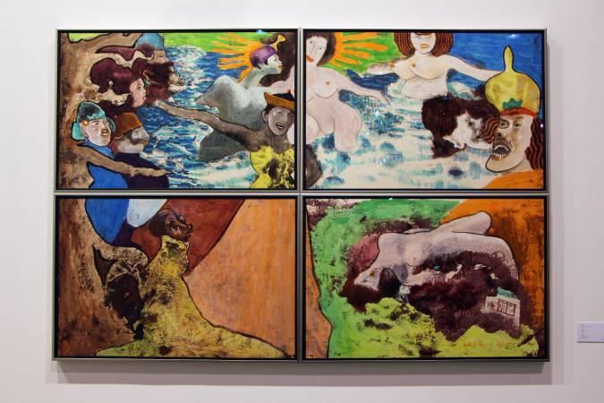 香港藝術家陳福善《無題》。圖/非池中藝術網攝。