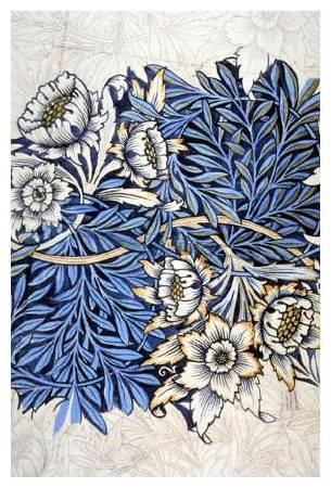 William Morris,《Tulip and Willow》,1873。圖/取自Wikiart。