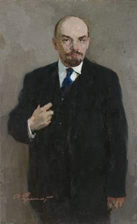 葉列梅耶夫,《列寧像》,1960。