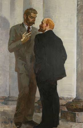 葉列梅耶夫,《列寧與高爾基》,1980。