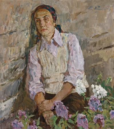 葉列梅耶夫,《妻子與花》,1992年。