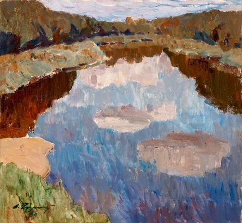 葉列梅耶夫,《雪隆河 》,1989。