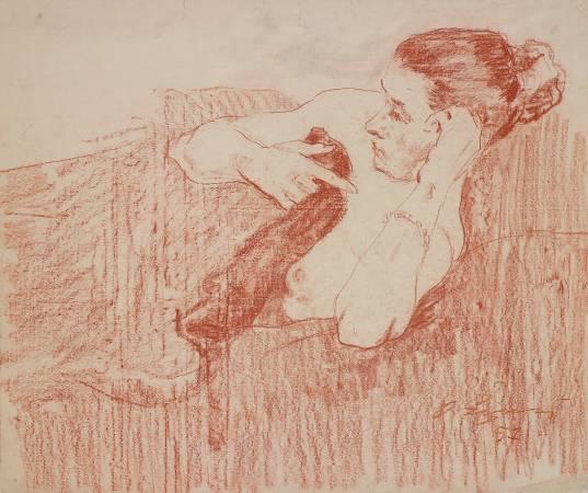 葉列梅耶夫,《女人體》,1957。