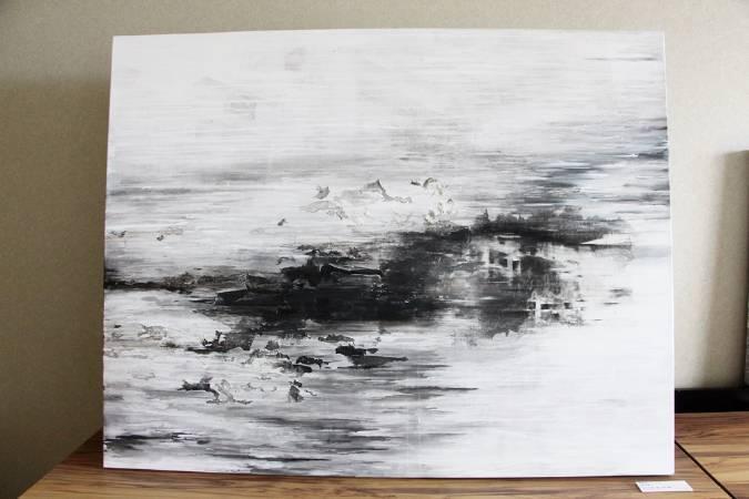 蘇誼亭《城市消融-3》。圖/非池中藝術網攝。