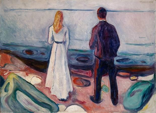 孟克《兩個寂寞的人》。圖/取自Vanity Fair。