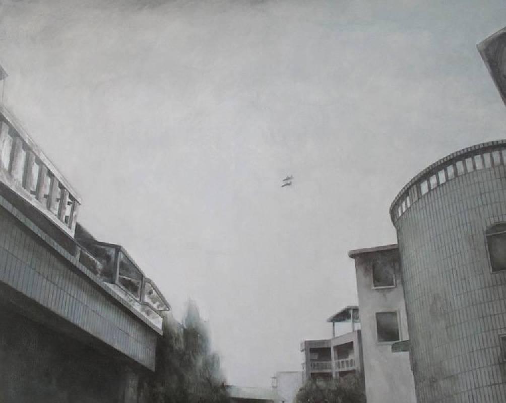 莊克柔 陽台景觀04  2015 80x100cm 壓克力 畫布