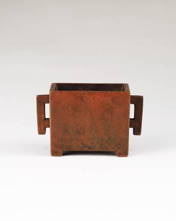 《清早期 馬槽銅爐》