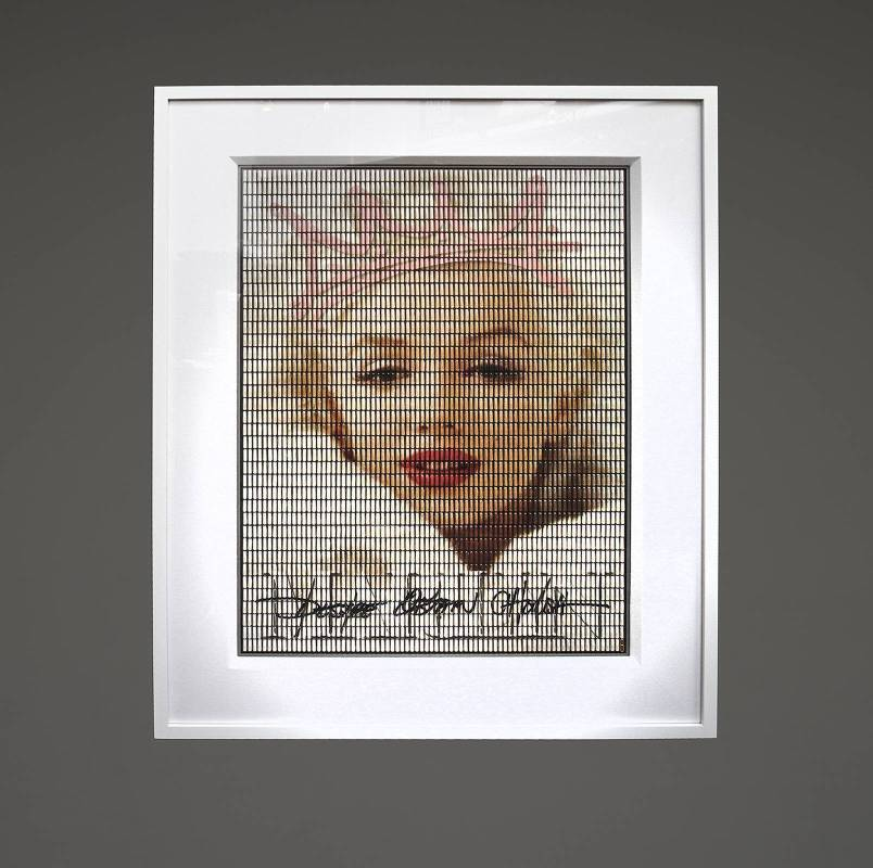 Desire Obtain Cherish - Marilyn Crown_3000 Individually wrapped pills encased in plexiglass