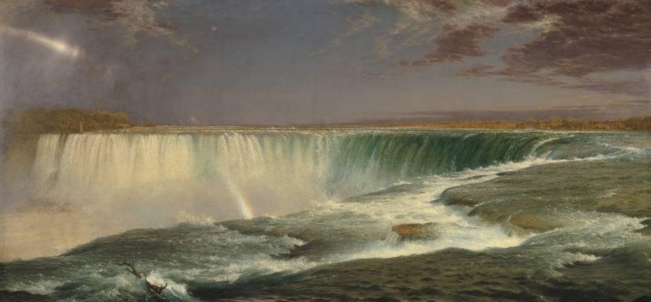 丘奇,《尼加拉瀑布》,1857 。圖/取自Wikipedia。