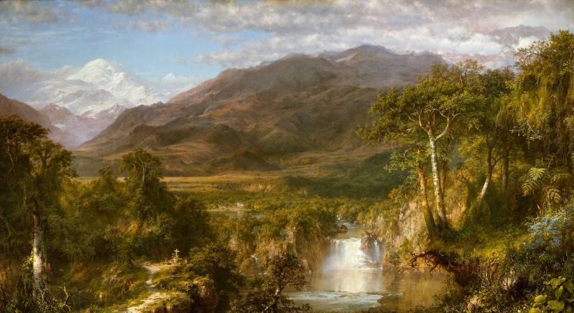 丘奇,《安第斯山脈之心》,1859。圖/取自Wikipedia。