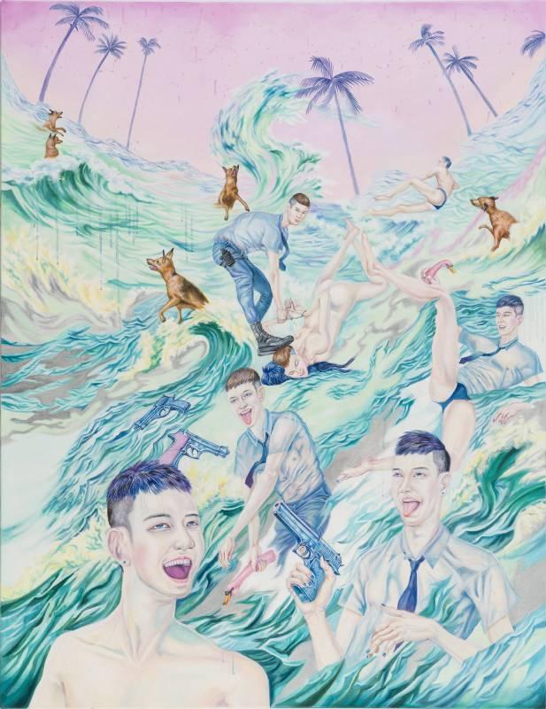 小仙女的正義,112 × 145.5 cm,油彩、畫布,2016