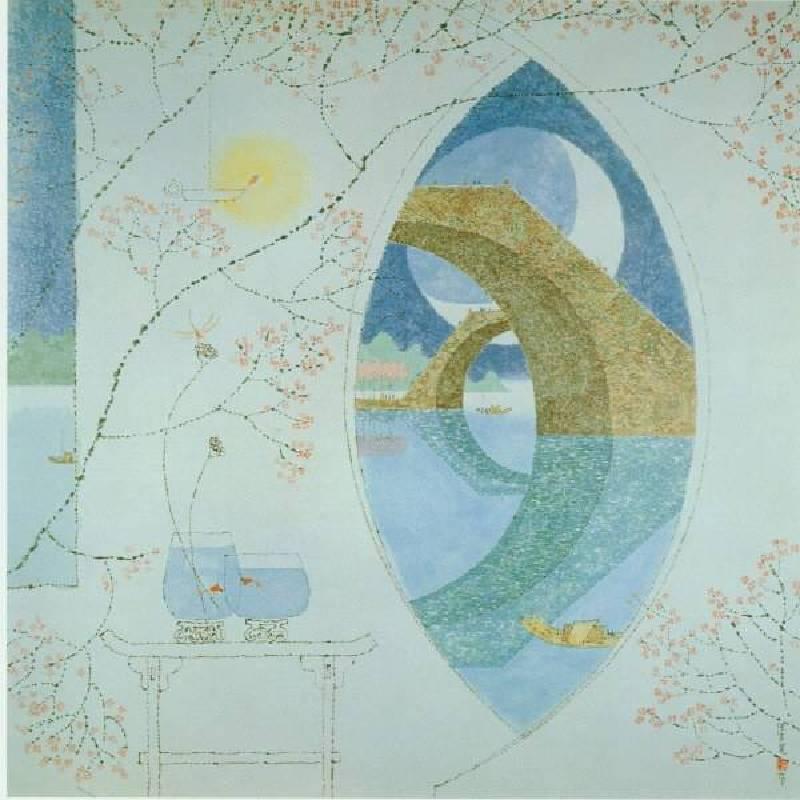 陳其寬,江南夜,62x62cm,石版畫,1996