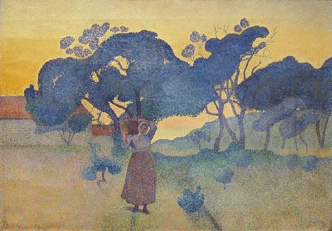 克羅斯,《傍晚的農場》,1893。圖/取自Wikipedia。