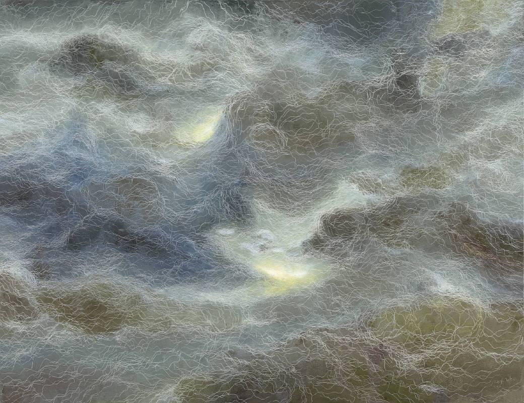 鄭麗雲 曙光 112x145.5 cm 2016 油彩畫布