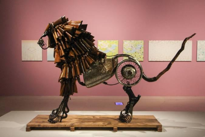 比利時藝術家吉爾.法利思作品。圖/非池中藝術網攝。