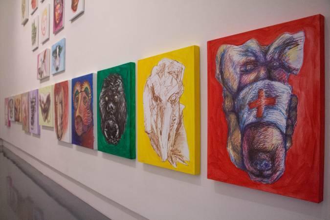 「人界」系列,十二生肖局部。圖/非池中藝術網攝。
