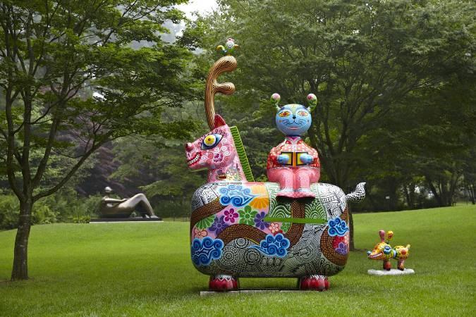 美術館戶外展區/洪易|龍馬|鋼板彩繪|240x143x350cm