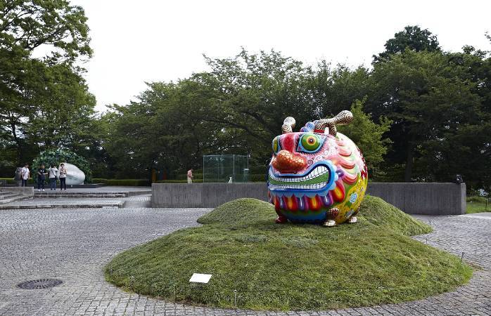 雕刻之森美術館-戶外展區/洪易|大福龍|鋼板彩繪|236x202x220cm