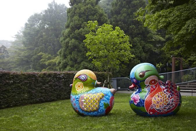 雕刻之森美術館-戶外展區/洪易|鴛鴦|236x202x220cm