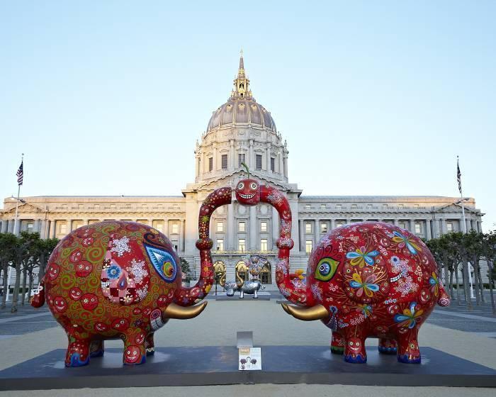 印象畫廊【舊金山市政廳 洪易 花漾動物嘉年華】Civic Center Plaza: Fancy Animal Carnival
