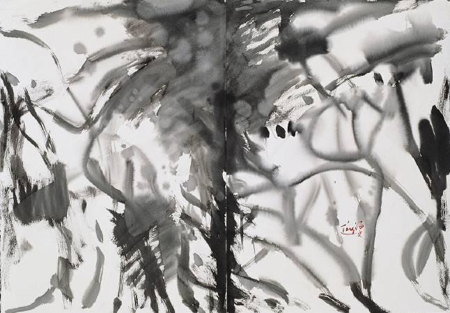 唐海文 抽象水墨 水墨 70x100cm