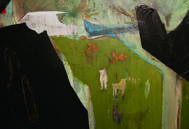 林奕維,《夜跑系列——河邊狗園》,2016。圖/臺北市立美術館提供。