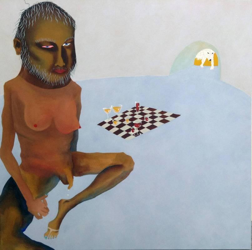 Dicaprio, chess, and polar bear