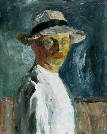 諾爾德,《Self Portrait》,1917年。圖/取自Wikiart。